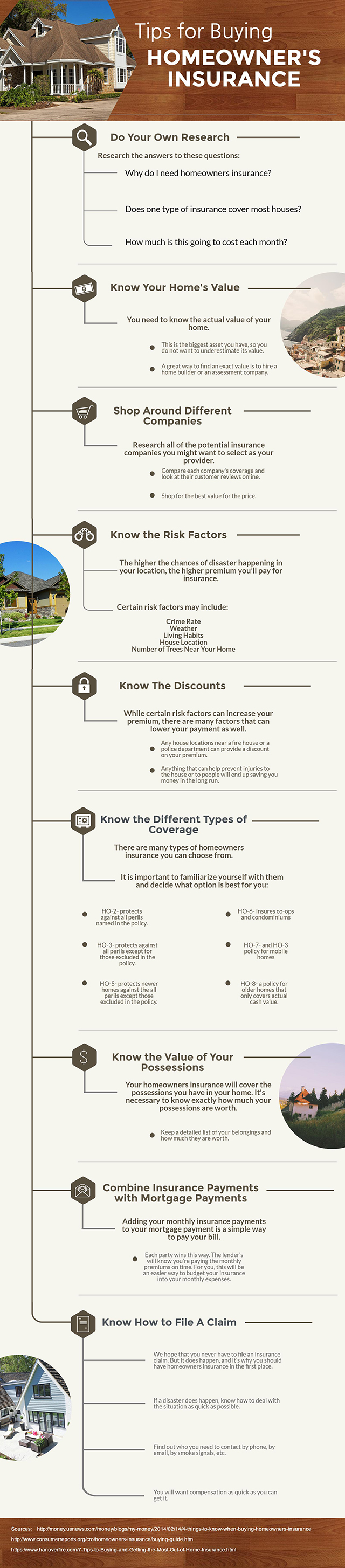Tips For Buying Homeowners Insurance - Infographic