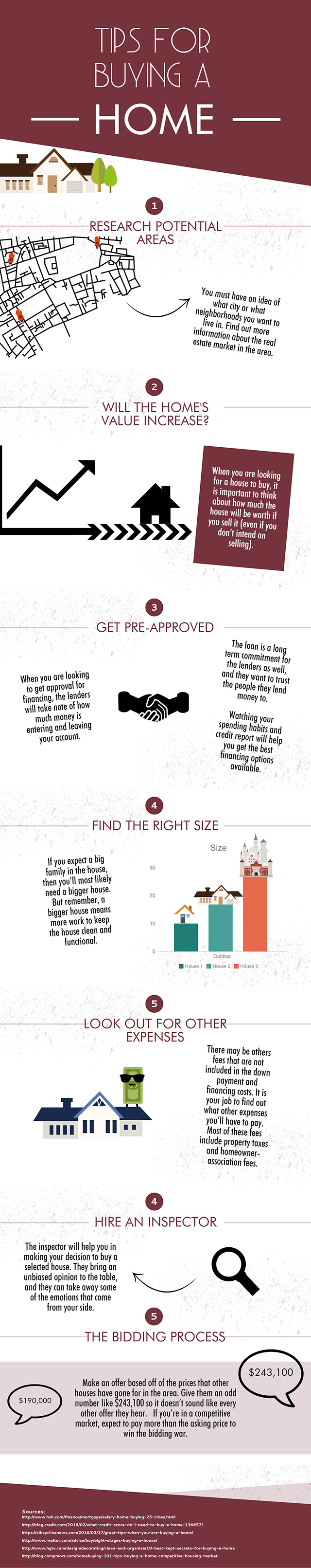 Tips for buying a home - Infographic
