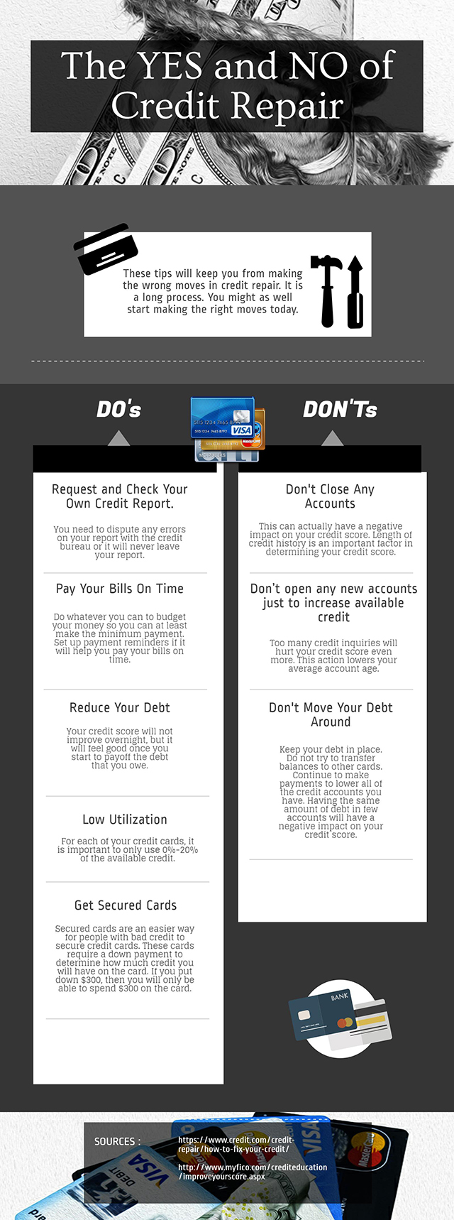 What To Do While In Credit Repair - Infographic