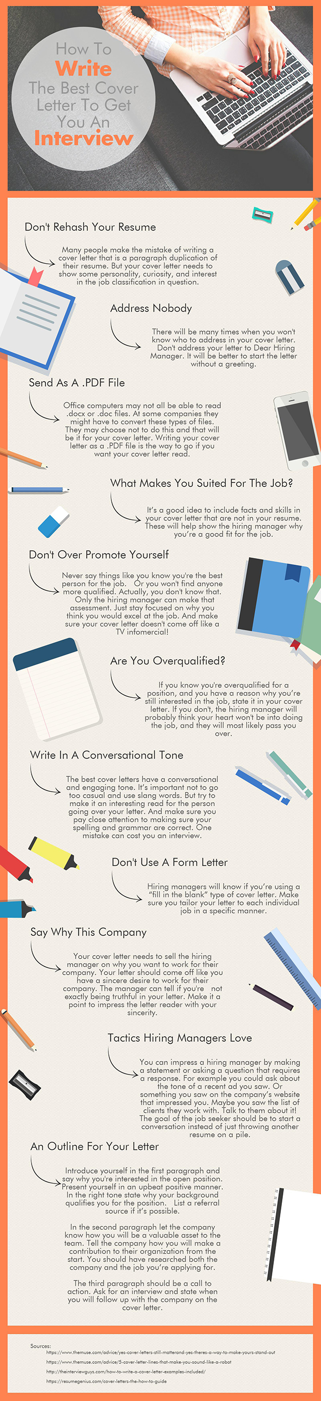 How To Write The Best Cover Letter To Get You An Interview - Infographic1