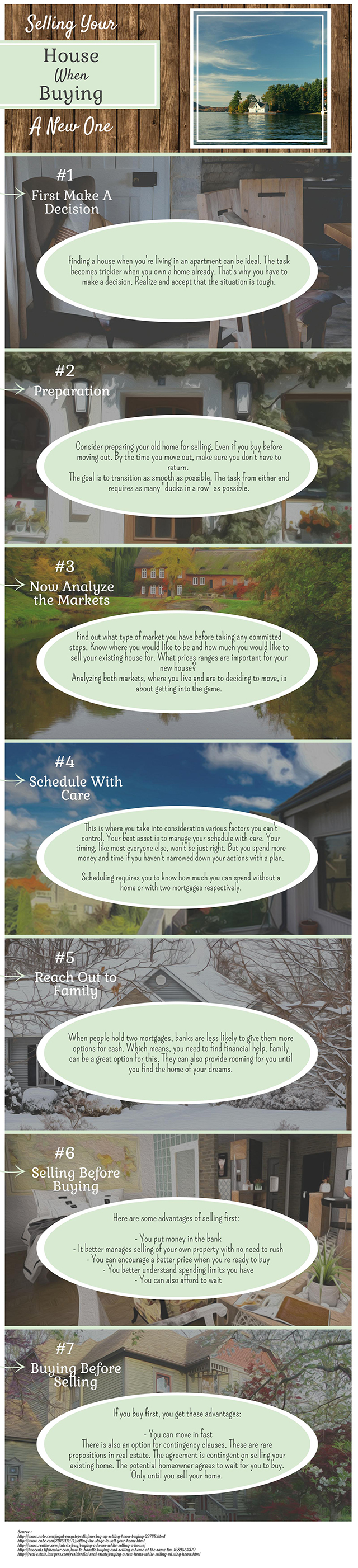 Selling Your House When Buying A New One - Infographic