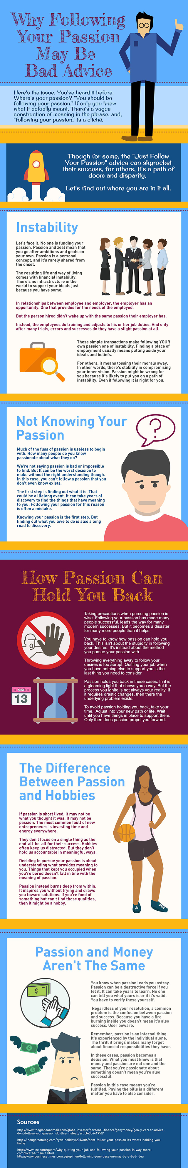 Why Following Your Passion May Be Bad Advice - Infographic