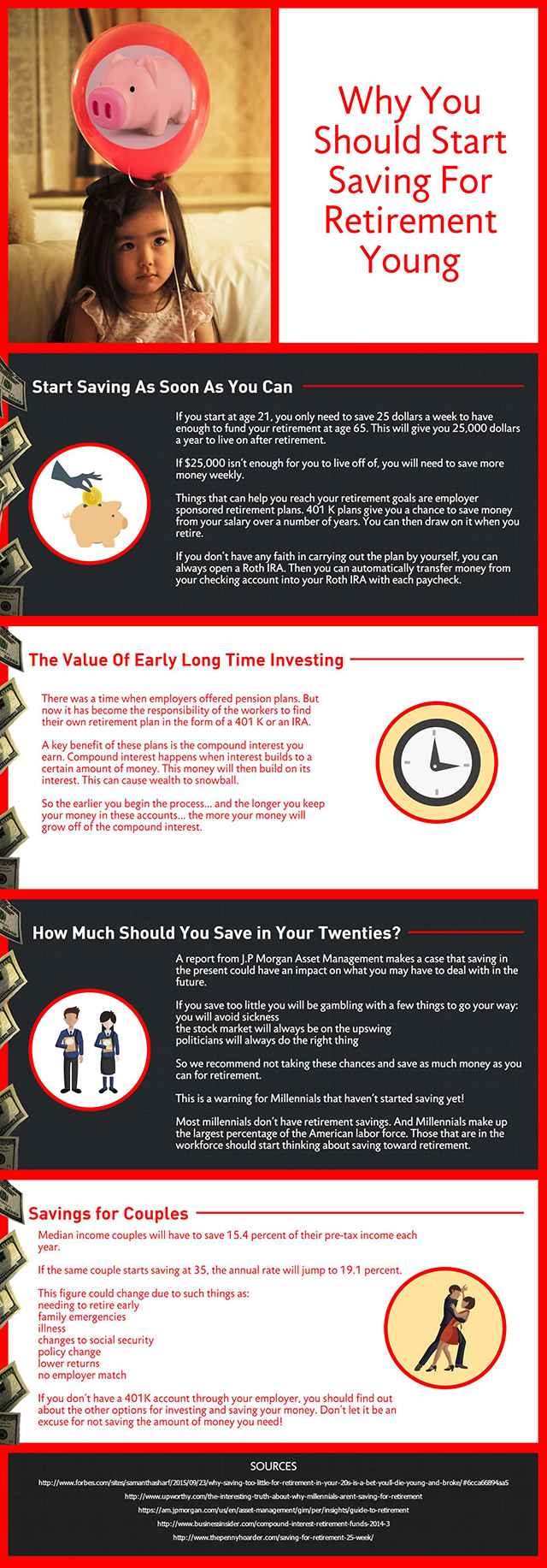 Why You Should Start Saving For Retirement Young - Infographic
