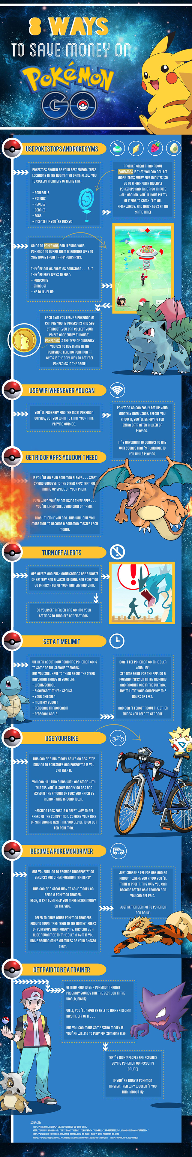 How You And Your Kids Can Save Money On Pokemon Go - Infographic